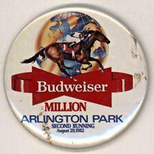 """1982 Budweiser / Arlington Park 3"""" Pinback Button"""