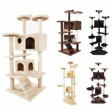 """Cat Tree Tower Condo Furniture Scratching Post Tree Play House Bed 52"""" 60"""" 80"""""""