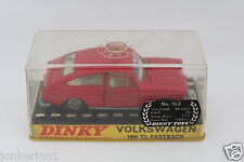 Dinky toys 163 Volkswagen 1600 TL Fastback made in England Meccano NIB [or3-016]