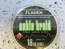 FLADEN 150m FISHING BRAID 18lb YELLOW 0.13 Teflon Coated Braided line for Reel