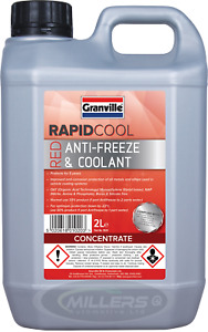 Granville Rapid Cool RED / PINK AntiFreeze & Summer Coolant Concentrate 2L