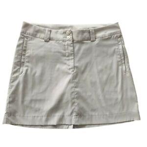 Nike Golf Dri-Fit Womens Tan Athletic Skirt Skort Size Medium 8 Pockets