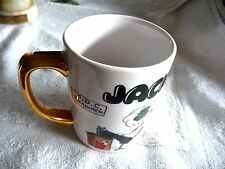 VINTAGE PORCELAIN CUP NAME JACK O.D.C TREASURER 1968