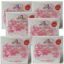 Gluta Collagen Whitening Soap Reduce Dark Spot Acne Anti Aging Smooth Soft Face