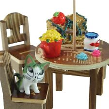 Miniature Outdoor Table & Chairs + Accessories Set - Mowbray Miniatures (14 pcs)