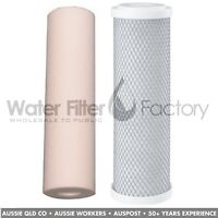 "20""x4.5"" Big Blue Whole House Water Filter Cartridges Sediment + Carbon Filters"