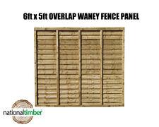 (Pack of 10) 6ft x 5ft Waney Lap Overlap Larch Lap Fence Panel