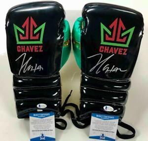 Julio Cesar Chavez autograph signed Boxing Gloves pair ~ Beckett Witness BAS COA