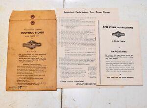 Briggs & Stratton 8BH Engine * OPERATION INSTRUCTION MANUAL * Vintage Book