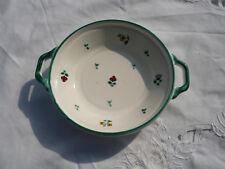 Originaler Gmundner Keramik Teller Platte Zierteller Schale Blümchen