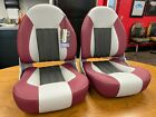 Boat Seats TEMPRESS ProBax Raspberry GRAY (2) SEATS PAIR Made in USA