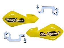 Polisport Yellow Hand Guards Alloy Brackets fits Kawasaki KLR650 11-12