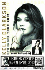 """KELLY CLARKSON / MATT NATHANSON """"STRONGER TOUR 2012"""" DENVER CONCERT POSTER - Pop"""