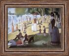 "Georges Seurat Grande Jatte Sunday Afternoon on the Island 27""x21.5"" (V07-08)"