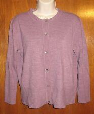BANDOLINO Large CARDIGAN SWEATER (purple button-up; acrylic) EUC