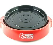 Nu Wave Pro Plus Base With Drip Pan For Infrared Oven Red 20326