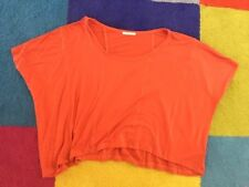 Orange Metalicus Oversized Top One Size