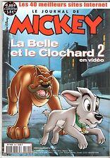 LE JOURNAL DE MICKEY n°2541 ¤ 2001 ¤ AVEC MAGNET BABYBEL + POSTER BELLE CLOCHARD