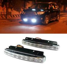 2Pcs 8 LED Car Light DRL Fog Driving Daylight Daytime Running White Head Lamp