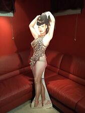 Vtg Life Size DieCut Standup Easel Bunny Yeager 50's Girlie Pinup Bettie Page