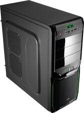 Cajas verdes de acero para ordenador sin fuente de alimentación incluida
