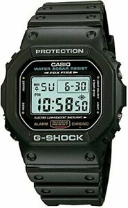 New GSHOCK DW5600E-1V Mens Classic Black Resin Digital Chronograph Sport Watch