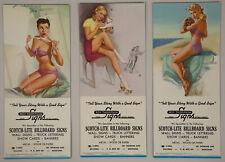 Collector's Lot of 3 Unused Original Brown & Bigelow 1940s Pin-Up Ink Blotters