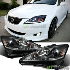 2006-2010 Lexus IS250 IS350 SMD LED DRL Projector Headlights 06-10 Left+Right