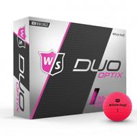 WILSON STAFF DUO OPTIX - PINK - 1 DZ GOLF BALLS - NEW!