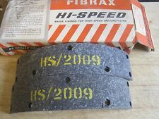 N.O.S FIBRAX BSA F/BRAKE LININGS 500 650 A50 A65 1966-on 1 5/8""