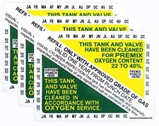 Nitrox Clean Scuba Dive Tank & Valve Inspection Certification Sticker VIP 3 pcs