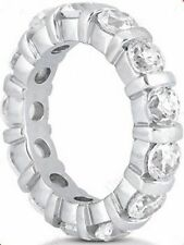 3.20 carat Round Diamond Ring 14k Gold Eternity Band F Vs Size 7 0.20 ct each