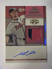 2012 Topps Triple Threads Mike Minor Atlanta Braves 2 Color Patch Auto 1/1