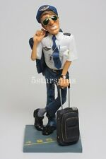 """Large Guillermo Forchino Comic The Pilot 16.1"""" Tall Figurine Sculpture Statue"""
