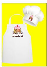 CUP Cake Divertente Chef Grembiule & Chefs Cappello Set, Pork Pie Chef Grembiule da Chef Cappello Set