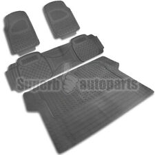 2 Front+1 Rear+1 Cargo Weather Custom Heavy Duty Rubber Floor Mats 4PC Gray