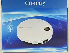Gueray tragbarer CD-Player mit Kopfhörer und Fernbedienung weiss