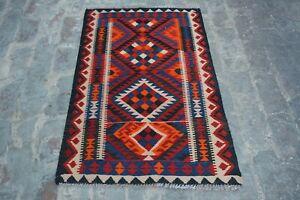 2'7 x 4 Feet Gorgeous Handmade Afghan Ghallmori Vintage 100% wool rug.