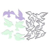 Pigeon Metal Cutting Dies Stencil DIY Scrapbooking Album Paper Card Craft De SL