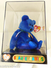 vtg 1998 TY BEANIE BABY BLUE CLUBBY I IN ORIGINAL TY DISPLAY BOX CASE