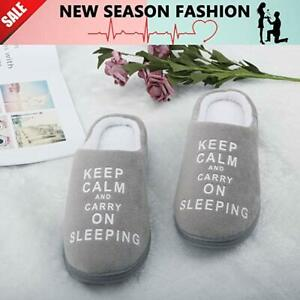 Women's Coral Fleece Memory Foam Bedroom Winter Slippers Knitted Cotton Slipper