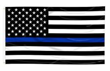 2 FLAGS Thin Blue Line USA Flag From TEXAS 3x5 ft Support Police Back The Blue