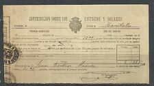 B13D-DOCUMENTO FISCAL  MURCIA CARAVACA IMPUESTOS TASAS.MORATALLA.1896