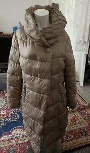 Fly Luxury  Puffer Jacket 100% Polyester Oliver Green zip button Size M