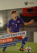 off. Program World Cup qu. 12.11.2016 Liechtenstein - Italy Italia