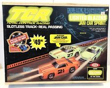 Vintage 1979 IDEAL TCR Slotless Total Control Racing Slot Cars Race Track