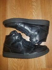 Nike Air Jordan 1 Mid Women Size 9 Triple Black Snakeskin Sneaker BQ6472-010