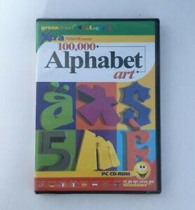 100,000 Alphabet Art - PC CD - Factory Sealed