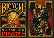 Steampunk Pirates Bicycle Playing Cards Poker Size Deck Custom Limited Edition