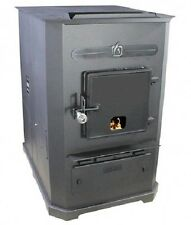 Forced-Air II (Two) Corn Wood Pellet Multi-fuel Furnace Stove, 105,000 BTU/Hr